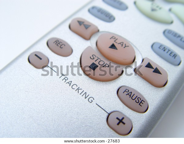 Television Remote Control taken closeup