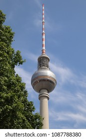 television tower with a big globe in Berlin, Germany