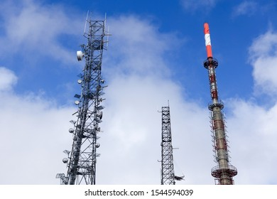 Television transmitting antennas and clouds