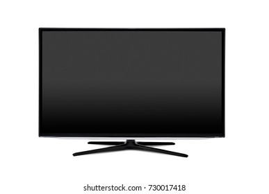 Television, tv screen mockup front view isolated. Blank screen monitor