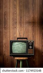 Television Vintage on Stool