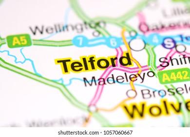 Telford. United Kingdom on a map