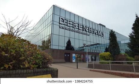 Telford,Shropshire/England -13 Nov 2016: Debenhams store in Telford Town Centre