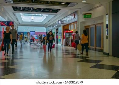 Telford,Shropshire/England - 14 July 2019:Telford indoor Shopping Mall