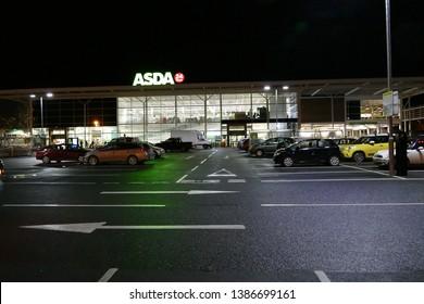 Telford,Shropshire/England - 17 Nov 2016: Asda superstore Telford Town centre