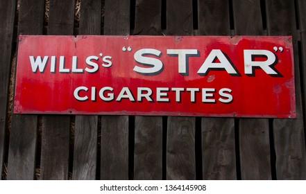 Telford,Shropshire/England - March 2 2017:Wills's Star Cigarettes