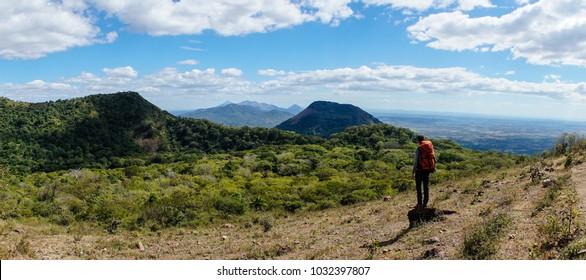 Telica volcano Panorama in Nicaragua.