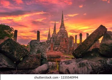 Tell a story waste Krungsri Ayutthaya  Wat Phra Si Sanphet Ayutthaya Museum Thailand