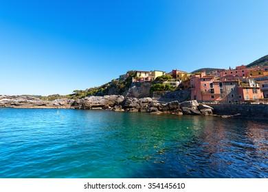 Tellaro - Golfo dei Poeti - Liguria Italy / The ancient small village of Tellaro near Lerici, La Spezia in the Golfo dei Poeti (Gulf of poets or Gulf of La Spezia) Italy