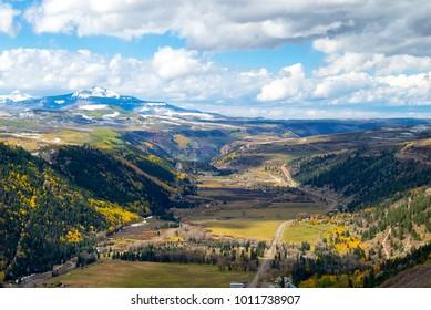 Telluride Colorado view from Bridal Veil Falls