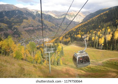 telluride with fall foliage