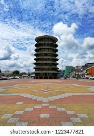 Teluk Intan, Perak - November 7th 2018 : The Leaning Tower of Teluk Intan is a clock tower in Teluk Intan Perak, Malaysia. It's the Malaysian equivalent of the world-famous Leaning Tower of Pisa Italy