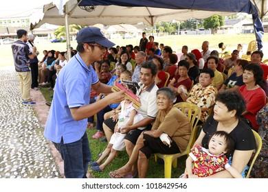 Teluk Intan,Perak,Malaysia, January 3, 2018, a dengue awareness campaign at local community.