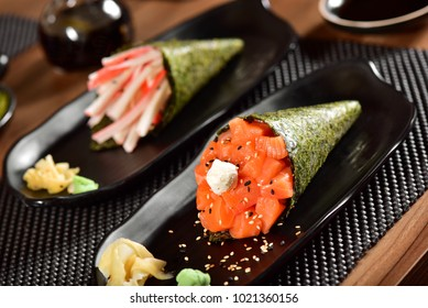 Temaki Sushi Couple on restaurant table