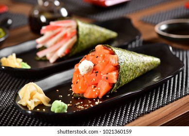 Temaki Sushi Couple on restaurant table