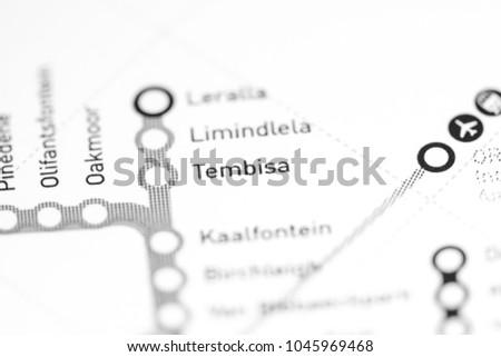 Tembisa Station Johannesburg Metro Map Stock Photo (Edit Now ...