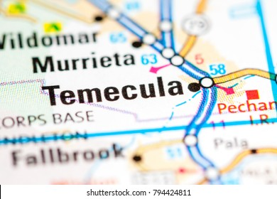 Temecula. California. USA on a map