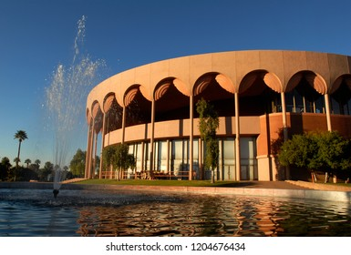 Tempe, Arizona - Dec. 29, 2014: The Grady Gammage Memorial Auditorium on the Arizona State University campus in Tempe. The performing arts center was designed by Frank Lloyd Wright and opened in 1964.