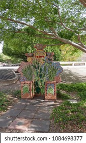 Tempe, Arizona, USA - March 24, 2018: Colorful mosaic with the words Greetings from Tempe