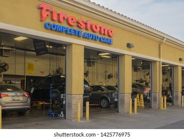 Tempe, Az/USA - 6.11.19:  Firestone opened in 1926 and adheres to the highest environmental standards recycling 75 percent of the waste generated in stores, including used tires, fluids.