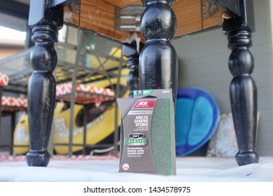 Tempe, AZ/USA June 25 2019: Ace Hardware Sandpaper and glasspaper  coated abrasive sheets of paper or cloth with abrasive material glued to one face