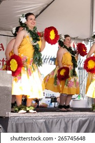 Tempe, Az/USA - March 28: Unnamed Dancers Perform At The Dragon Boat Festival At Tempe Town Lake Tempe, Arizona.