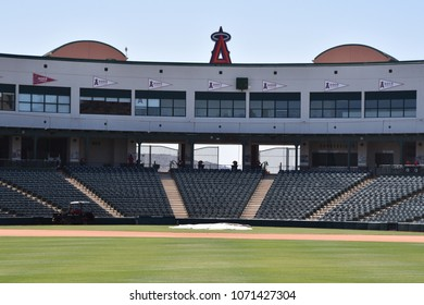 Tempe Diablo Stadium spring training facility of the Los Angeles Angels viewed from center field Tempe Arizona 4/14/18