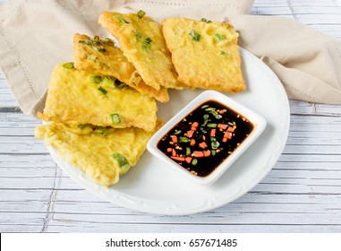 Tempe Mendoan : Indonesian Traditional Food Deep Fried Tempeh