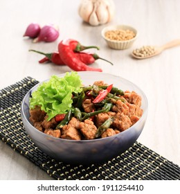 Tempe Orek or Stir Fried Tempeh, Indonesian Traditional Cuisine Made from Tempeh with Soy Sauce or Palm Sugar Added. Sometimes Add Chilli to make It Spicy