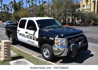 Tempe Police Bike Patrol truck near ASU in Tempe Arizona 3/16/19