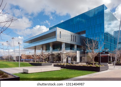 Tempe,Az/USA - 2.5.19  Developed by Ryan Companies and Sunbelt Holdings, Marina Heights feature 2 million sq. ft. of office space,  5 buildings act as a regional hub for State Farm Insurance.