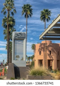 Tempe,Az/USA - 3.10.2019:  Arizona State University Tempe campus is the largest of four campuses that compose Arizona State University,  eight miles East of downtown Phoenix.