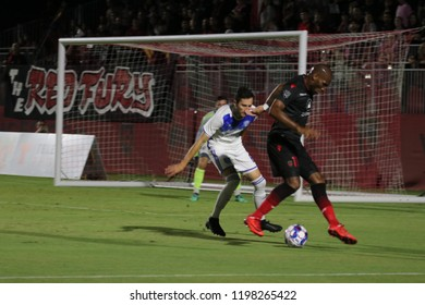 Tempe,AZ/USA-October 6,2018 : Billy Forbes forward for Phoenix Rising FC at Phoenix Rising Soccer Complex.