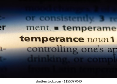temperance word in a dictionary. temperance concept.