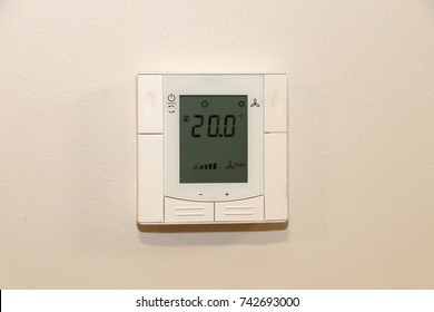temperature control remote on the wall