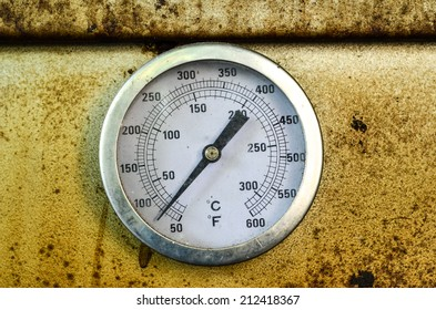 Temperature meter of dirty oven