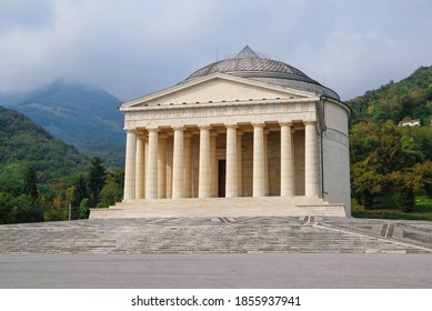 The Tempio Canoviano or Temple of Canova, Catholic church in Neoclassical style, based on the designs of Antonio Canova. Travel destination in Possagno in the Province of Treviso in the region