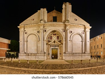 Tempio Malatestiano (Malatesta Temple) is unfinished cathedral church of Rimini, Italy. Officially named for St. Francis, it takes popular name from Sigismondo Pandolfo Malatesta.