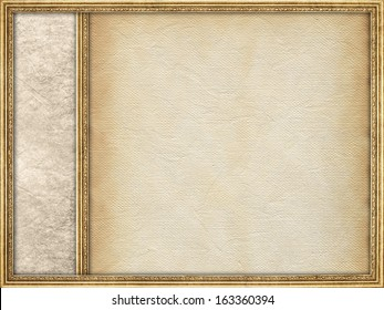 Template background - paper sheet and picture frame