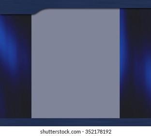 Template blue background for web design or presentation