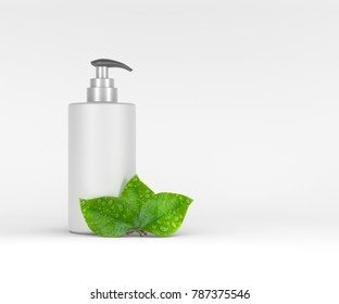 Template bottle for liquid. Isolated on a white background. 3D rendering.