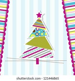 Template Christmas greeting card