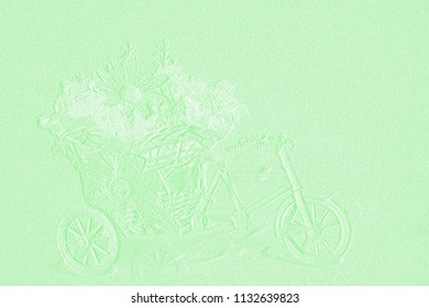 Template of embossed Bouquet
