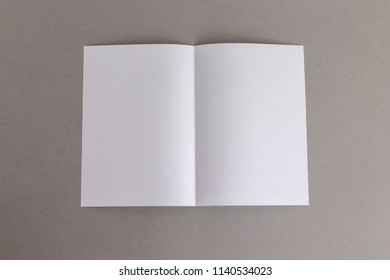 template fold white paper on gray background bussnese concept