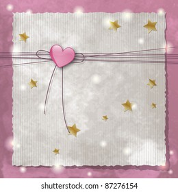 Template frame design for baby announcement or greeting card