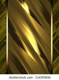 The template for the inscription. Gold (yelow) background with a gold nameplate.