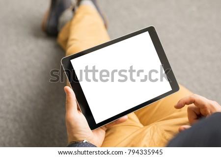 Photo De Stock De Template Mockup Tablet App Design Horizontal