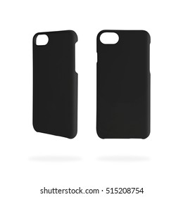 Template phone case for protection on isolated background with clipping path.