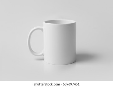 Template of a white mug