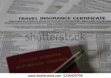 Travel Insurance Certificate Template - Tourism Company ...